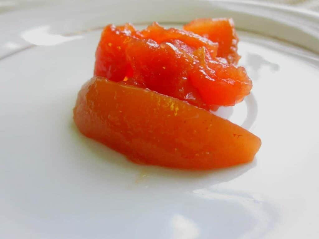 quince preserve close-up
