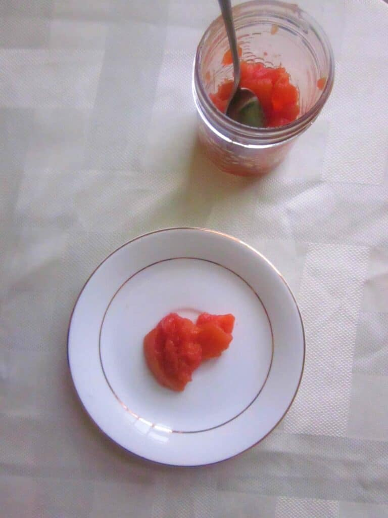 quince preserve on a plate