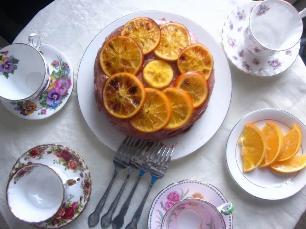 vegan chocolate orange cake tea time