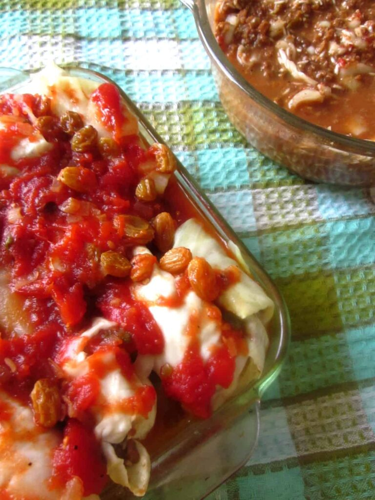 At the Immigrant's Table: Vegetarian cabbage rolls