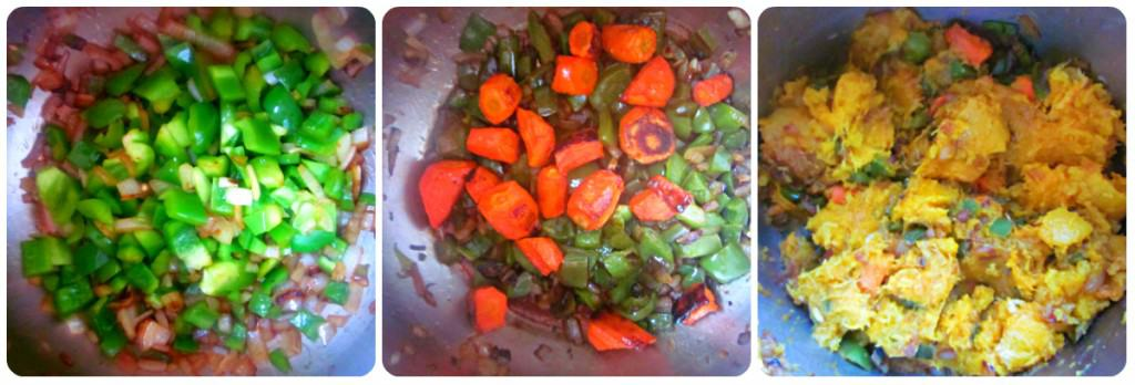 roasted squash and carrot soup prep