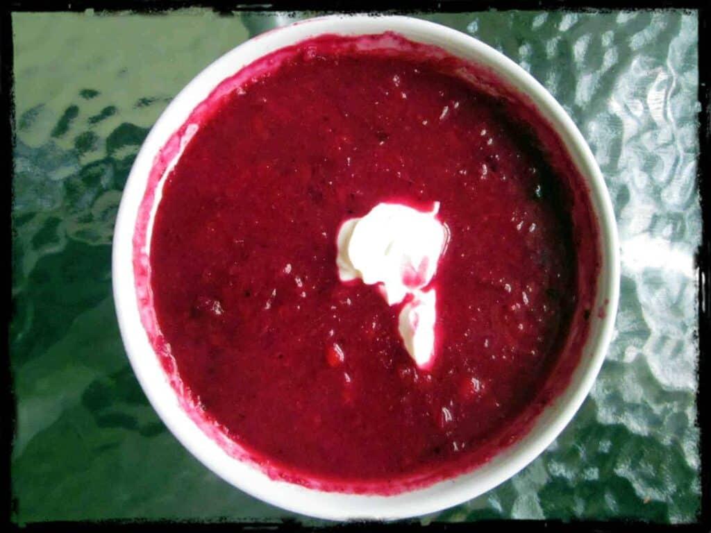 Beet borscht