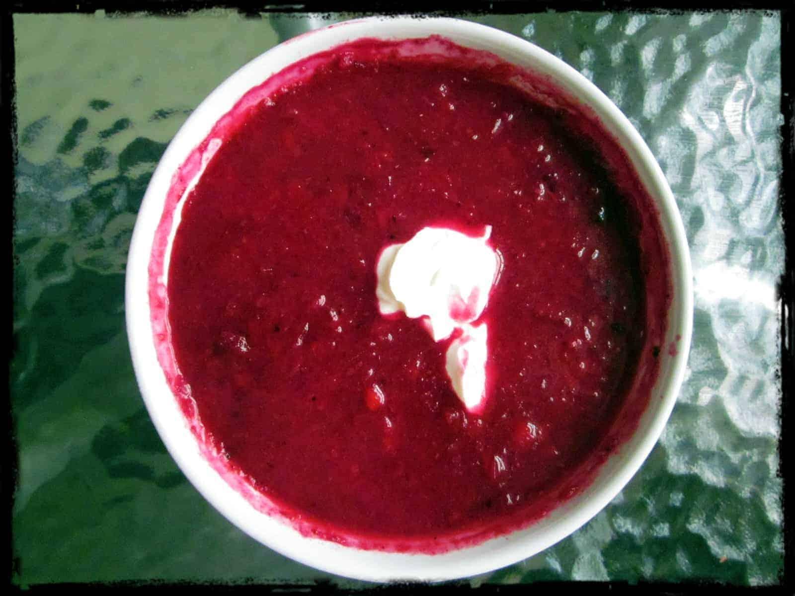 Sweet and sour borscht