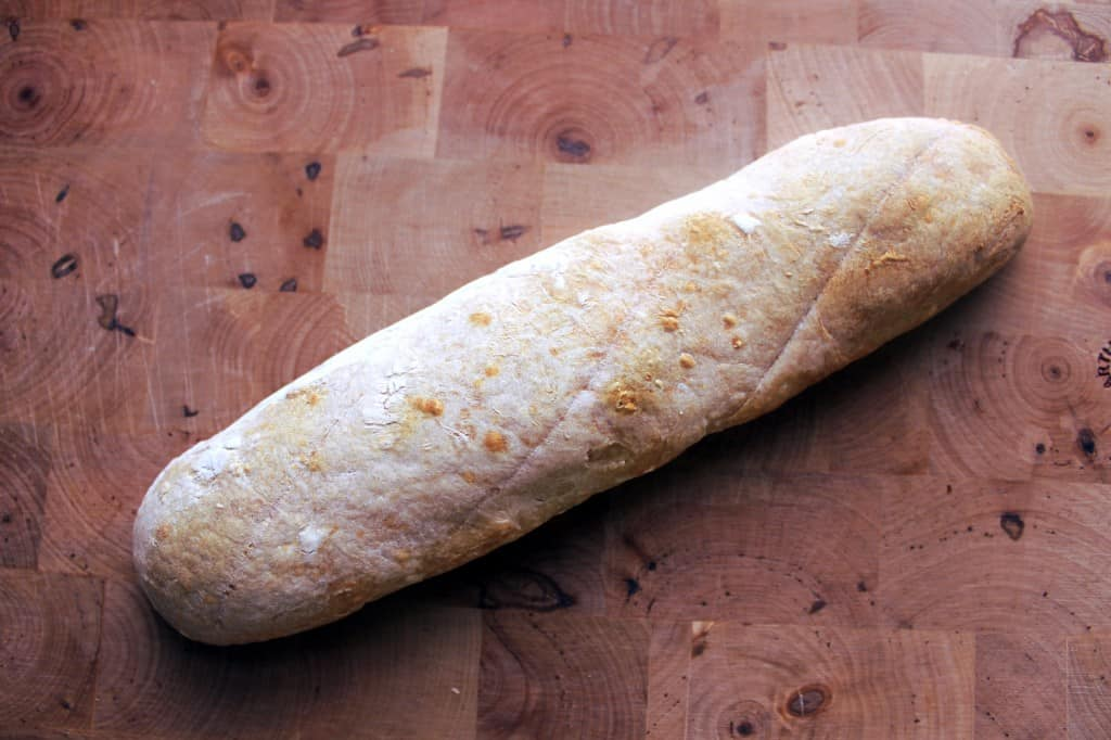 liquid sourdough starter baguette