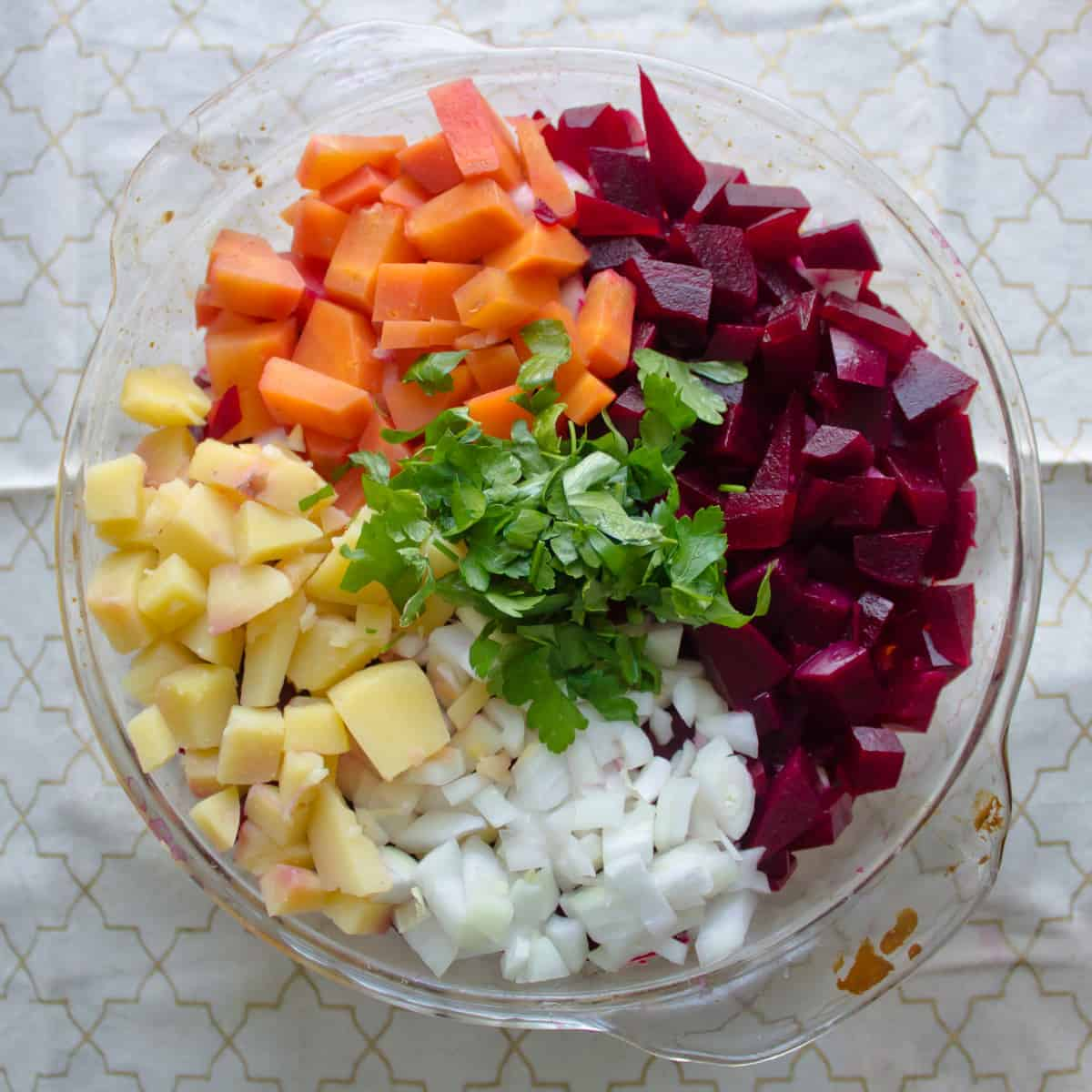 Russian root vegetable salad