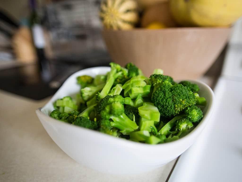 Broccoli salad naked