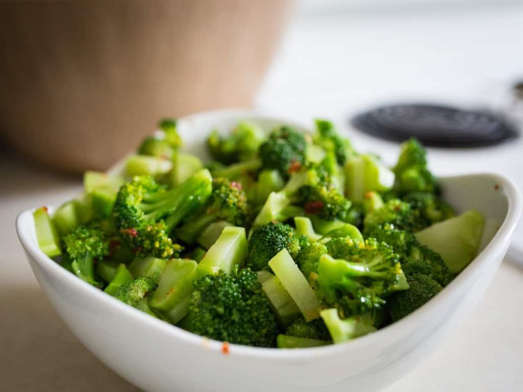 Broccoli salad dressed