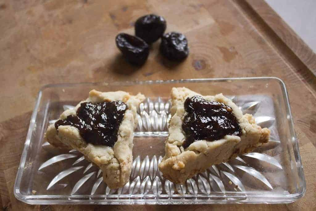 two prune hamantaschen
