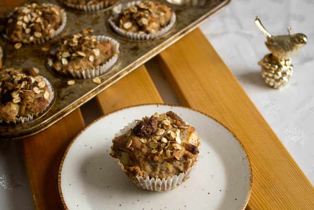 Morning glory muffins serves one