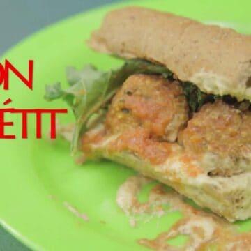 Vegan zucchini meatball sub (vegan)