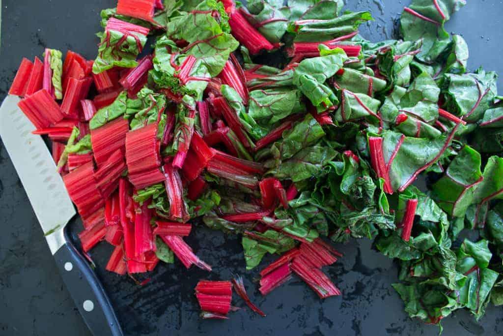 swiss chard and tomatoes chard