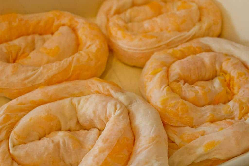 Bosnian pita pie coils