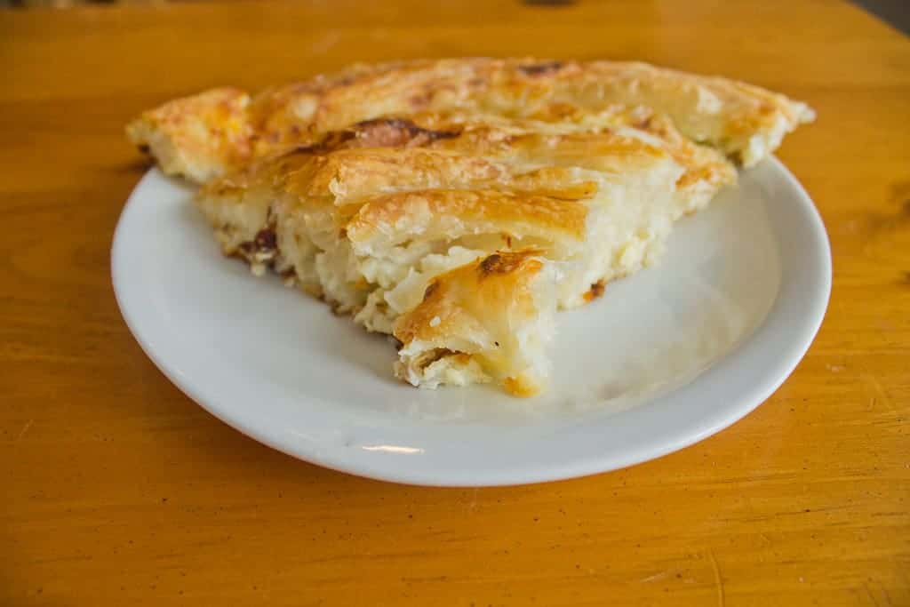 Bosnian pita pie slice