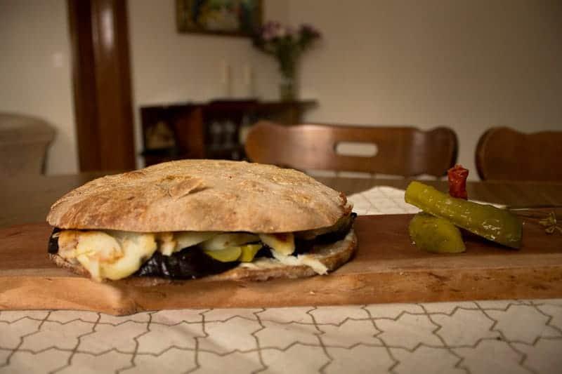 Israeli Sabich sandwich