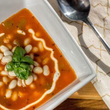 Pasulj Serbian white bean soup