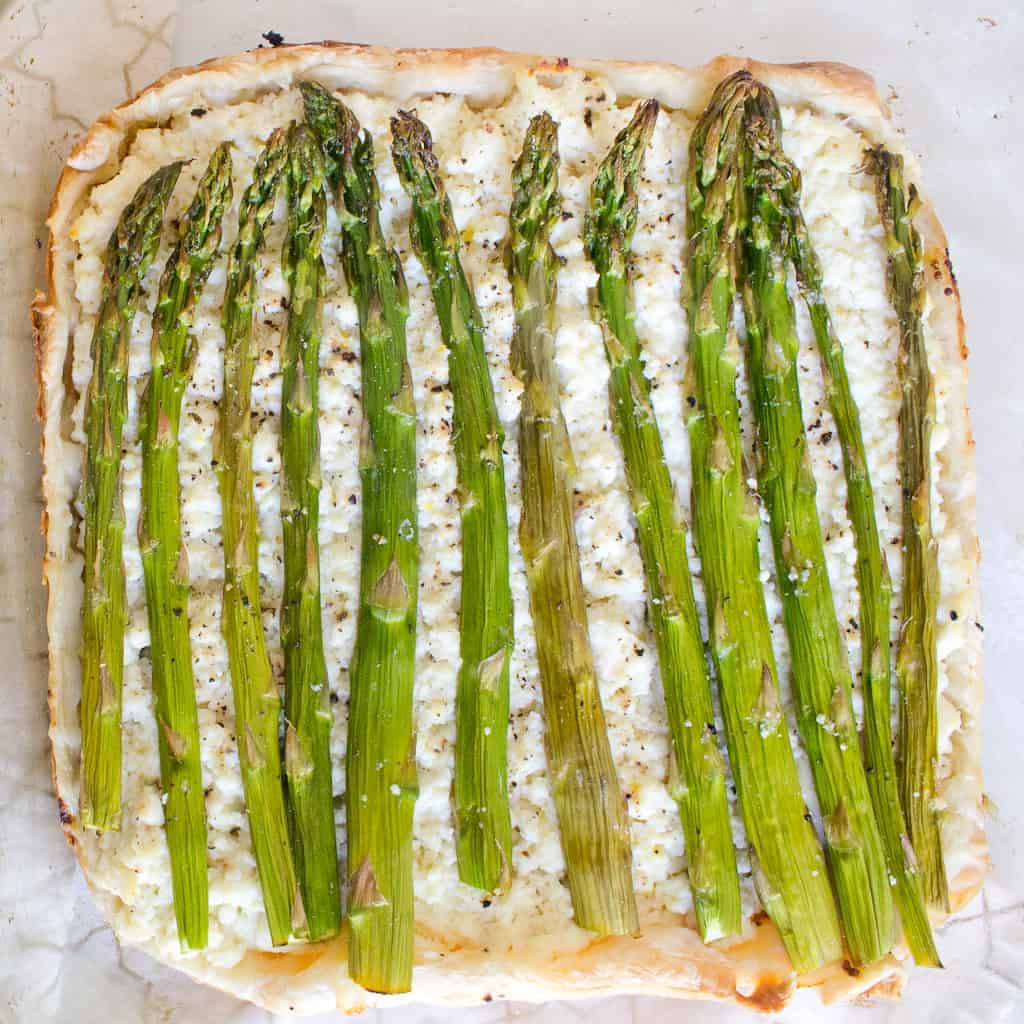 Asparagus and ricotta tart spring recipes