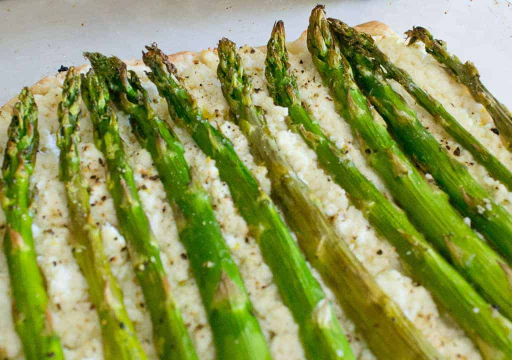 asparagus and ricotta tart baked