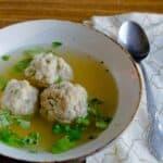 Passover kneidlach (matzo balls)