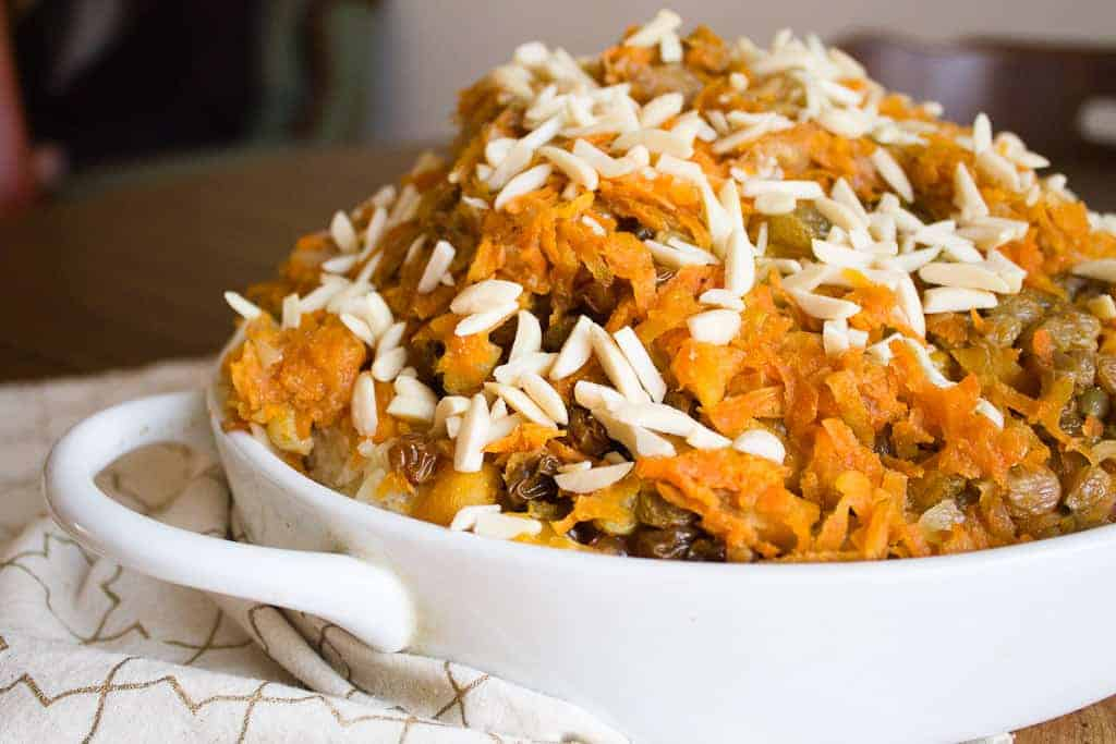 vegetarian rice plov,