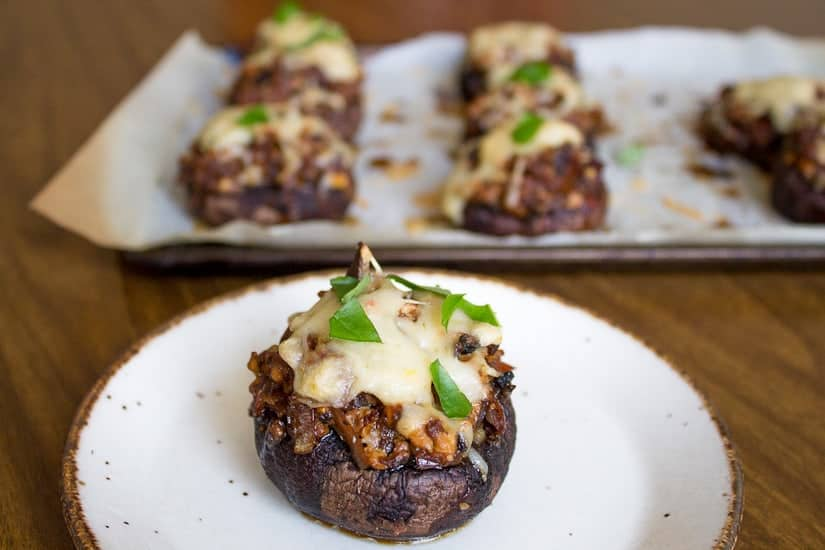dig in vegan stuffed mushrooms