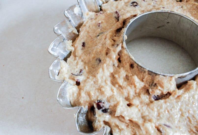 almond cranberry cake batter ready