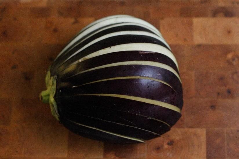 Creamy eggplant tomato stacks