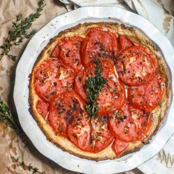 Last summer tomato tart