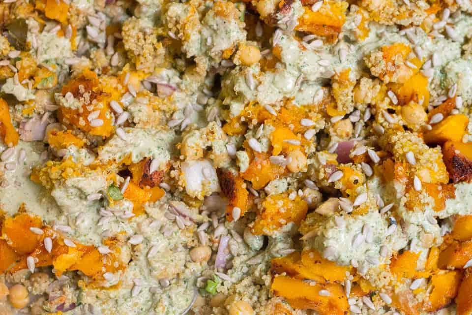 Quinoa, kabocha squash and chickpeas
