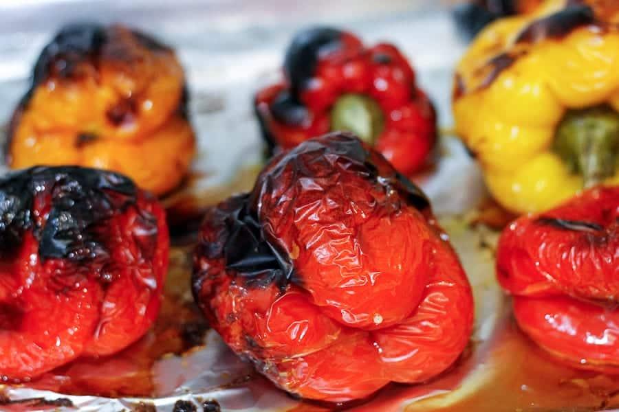 Roasted bell pepper salad