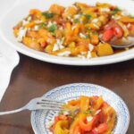 Roasted bell pepper salad