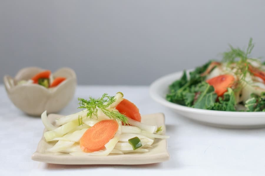 Quick-pickled fall vegetables