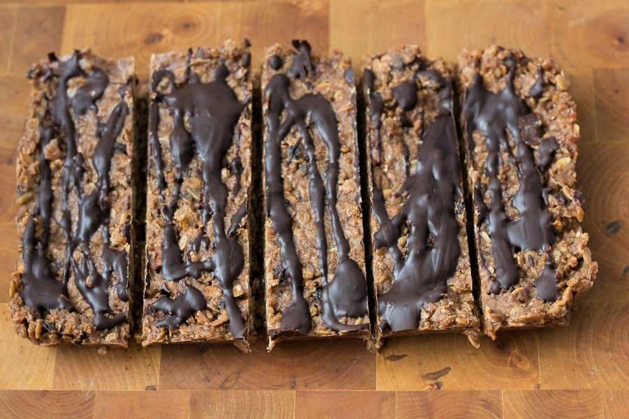 Pear chocolate granola bars