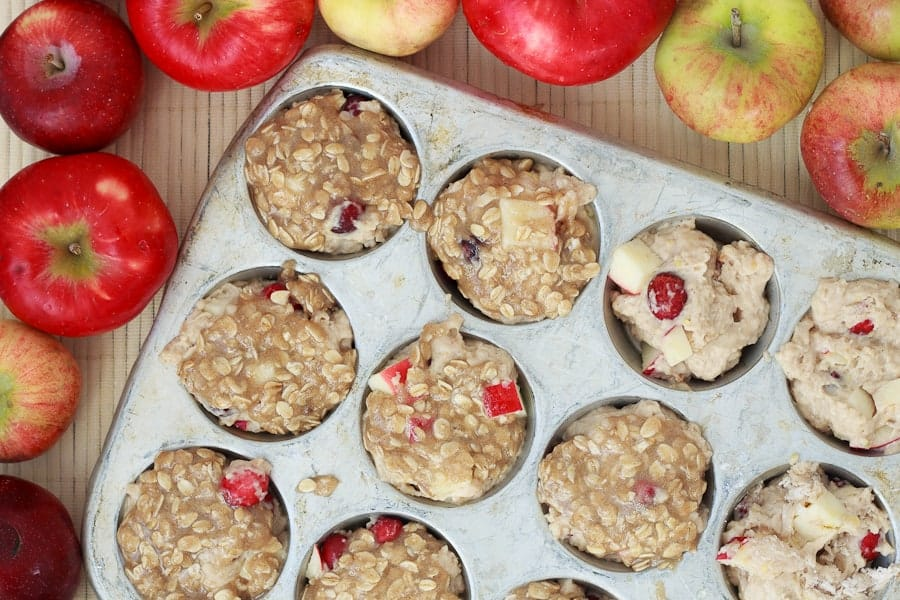 Cranberry apple streusel muffins
