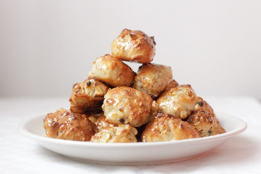Apple-granola baked Bimuelos