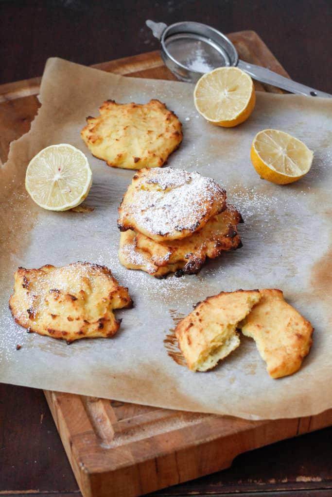 Lemon ricotta pancakes (gluten-free, baked), or the original latke