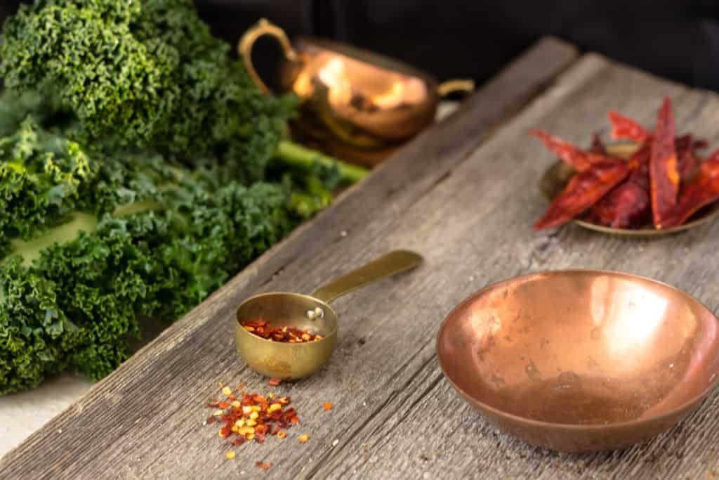 Green broccoli kale soup