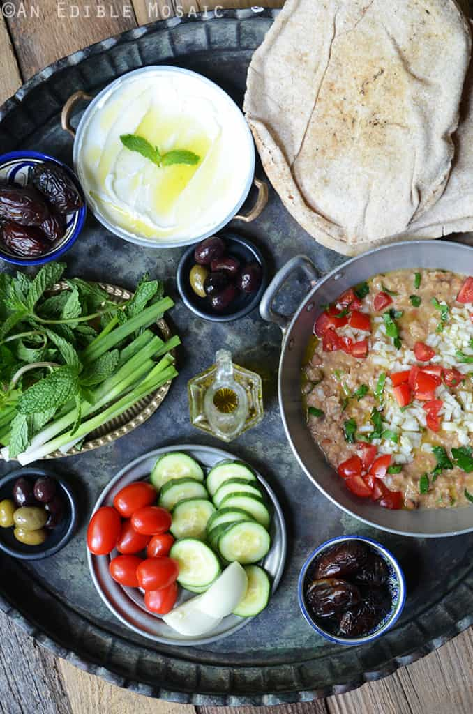A peek into Faith's take on the Middle Eastern breakfast, beautiful foul mudammas