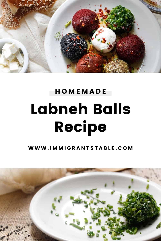 Homemade labneh balls recipe
