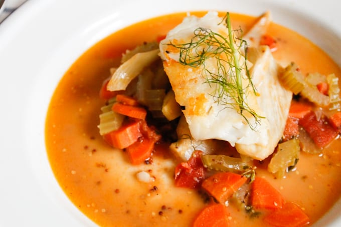 This pan-seared cod with fennel-tomato ragout harkens to the simple, Spanish-Italian food of Argentina.