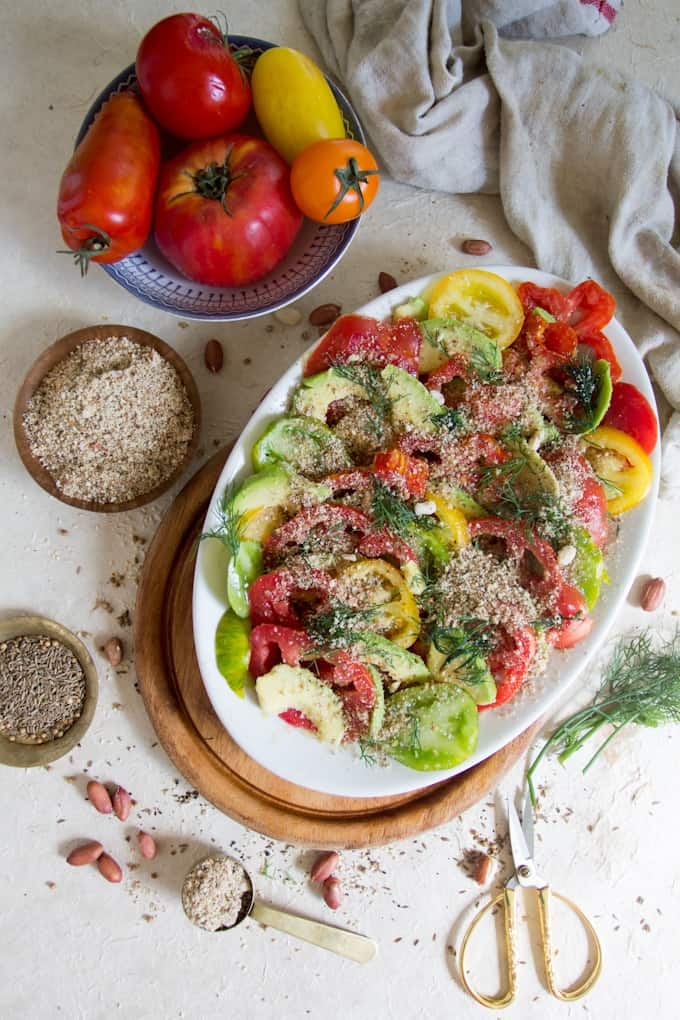There are those flavours you taste once, only to never forget again. This avocado salad with dukkah seasoning is the perfect balance of savoury and fresh.
