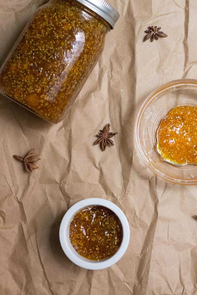 This ground cherry jam brings together the ground cherry, Quebec's strangest fruit, with the heat of ginger and the zest of lemon and lime. Fall perfection.
