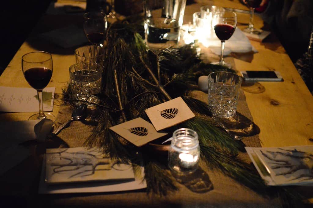At 7pm on Feb 7, nearly 40 people braved the frozen temperatures of wintertime in Montreal to celebrate Tu B'Shevat Under the Trees, my first pop-up dinner.