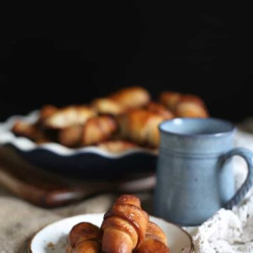 Traditional Israeli yeasted rugelach