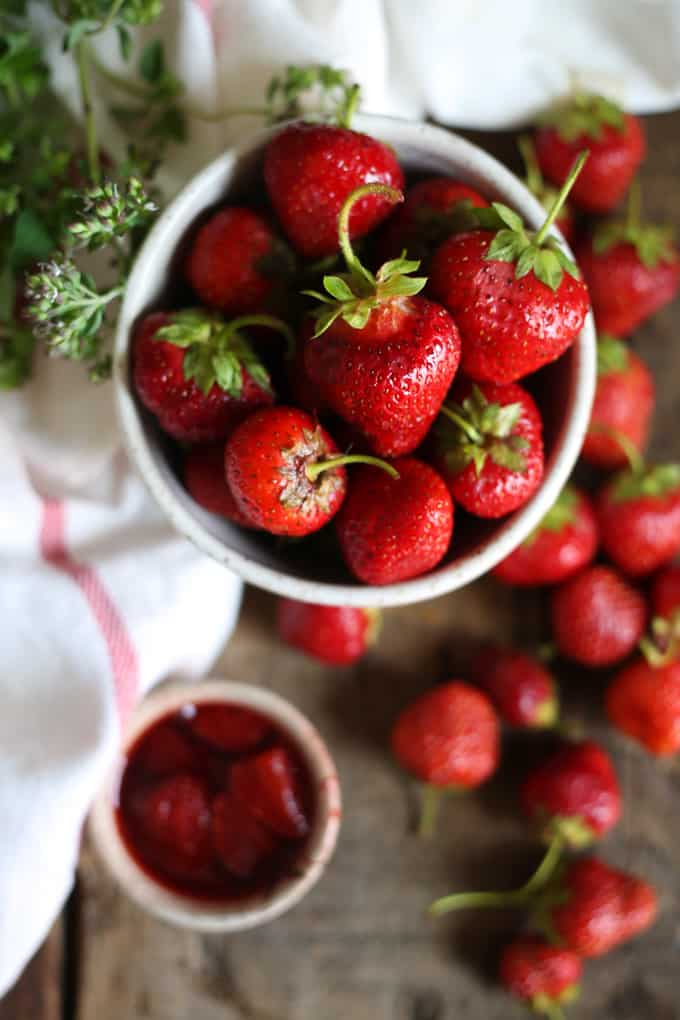 Celebrate summer with honey strawberry jam with herbs + balsamic