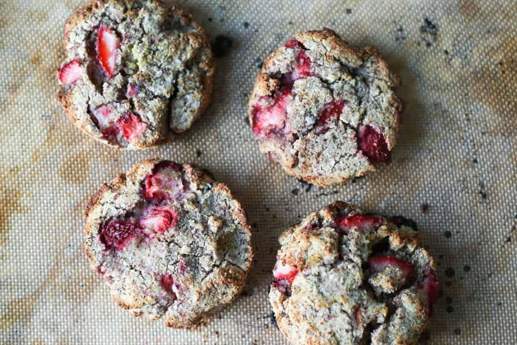 Paleo strawberry scones