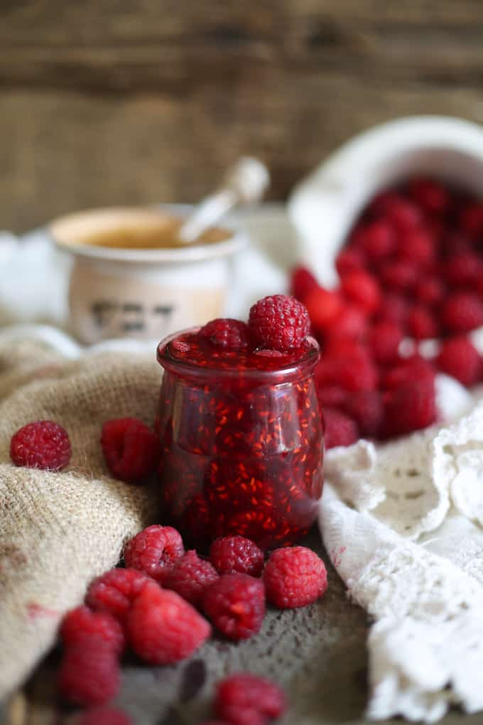 Clean raspberry preserves