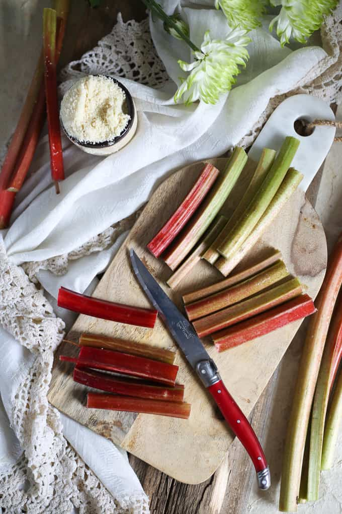 Paleo honey rhubarb tart {GF, P}