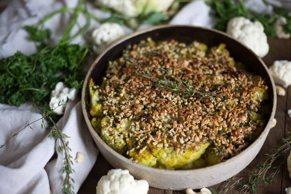 German roasted cauliflower and New German Cooking cookbook giveaway