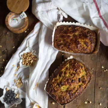 Paleo chocolate peanut banana bread