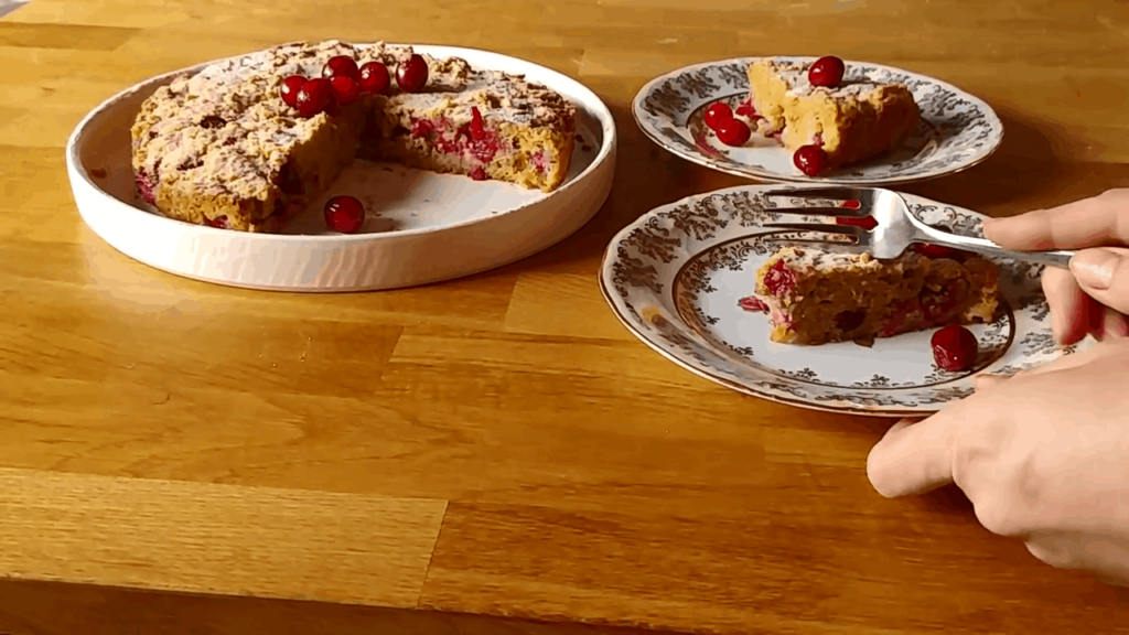 Paleo orange cranberry cake